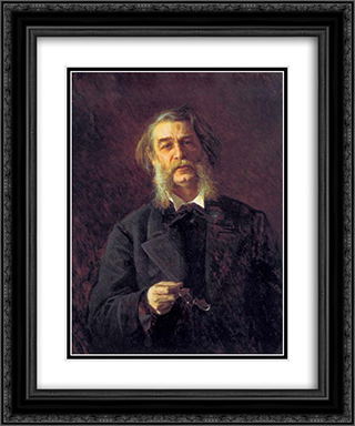 Dmitry Grigorovich, a Russian writer 20x24 Black or Gold Ornate Framed and Double Matted Art Print by Ivan Kramskoy