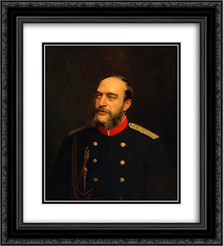 Georg August von Mecklenburg Strelitz 20x22 Black or Gold Ornate Framed and Double Matted Art Print by Ivan Kramskoy