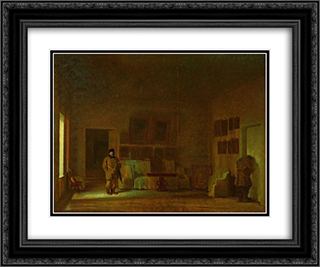 Inspection of the old house 24x20 Black or Gold Ornate Framed and Double Matted Art Print by Ivan Kramskoy