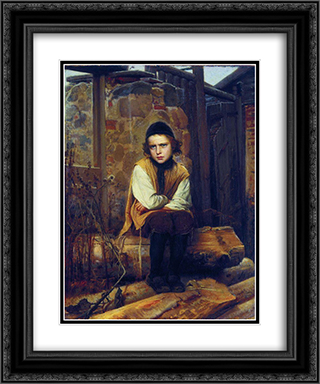 Outraged Jewish boy 20x24 Black or Gold Ornate Framed and Double Matted Art Print by Ivan Kramskoy