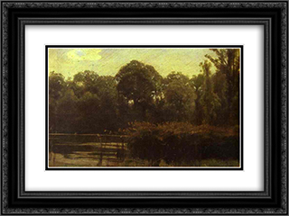 Pond 24x18 Black or Gold Ornate Framed and Double Matted Art Print by Ivan Kramskoy