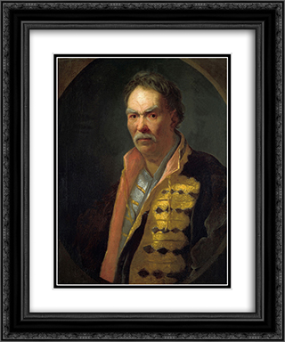 A Malorossian Hetman (Probably Pavlo Polubotok) 20x24 Black or Gold Ornate Framed and Double Matted Art Print by Ivan Nikitin