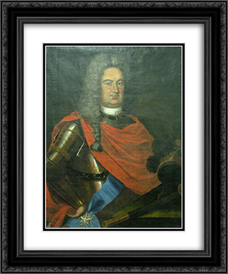 Boris Sheremetev 20x24 Black or Gold Ornate Framed and Double Matted Art Print by Ivan Nikitin