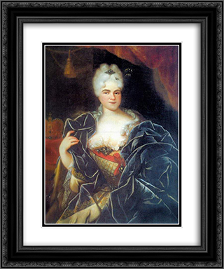 Catherine I of Russia 20x24 Black or Gold Ornate Framed and Double Matted Art Print by Ivan Nikitin