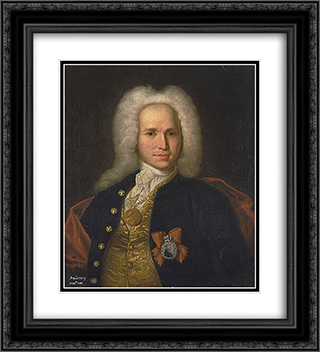 Portrait of Andrei Nartov 20x22 Black or Gold Ornate Framed and Double Matted Art Print by Ivan Nikitin