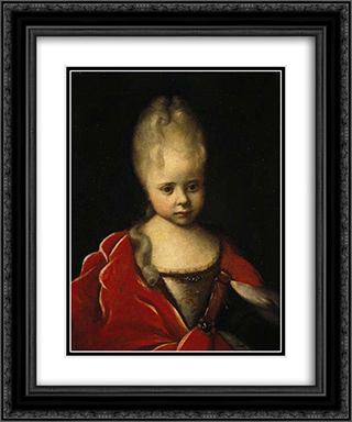 Portrait of Elizaveta Petrovna as a child 20x24 Black or Gold Ornate Framed and Double Matted Art Print by Ivan Nikitin