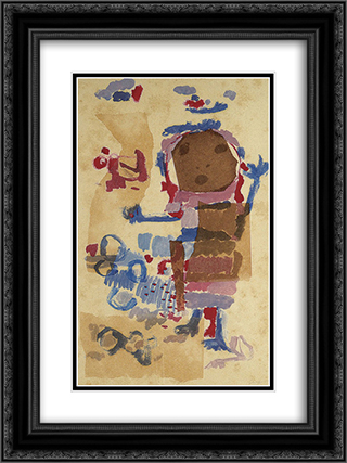 Boneca 18x24 Black or Gold Ornate Framed and Double Matted Art Print by Ivan Serpa