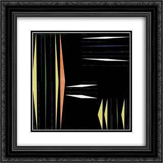 Composicao 20x20 Black or Gold Ornate Framed and Double Matted Art Print by Ivan Serpa