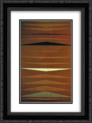 Faixas Ritmadas 18x24 Black or Gold Ornate Framed and Double Matted Art Print by Ivan Serpa
