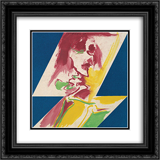 Figura 20x20 Black or Gold Ornate Framed and Double Matted Art Print by Ivan Serpa