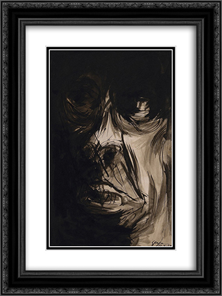 Figura (Fase Negra) 18x24 Black or Gold Ornate Framed and Double Matted Art Print by Ivan Serpa