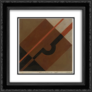 Formas diferenciadas 20x20 Black or Gold Ornate Framed and Double Matted Art Print by Ivan Serpa