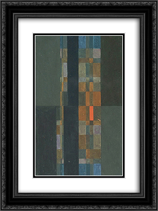 Geometric Composition 18x24 Black or Gold Ornate Framed and Double Matted Art Print by Ivan Serpa