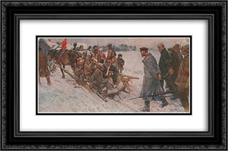 Capture of the White Guard Spyware 24x16 Black or Gold Ornate Framed and Double Matted Art Print by Ivan Vladimirov