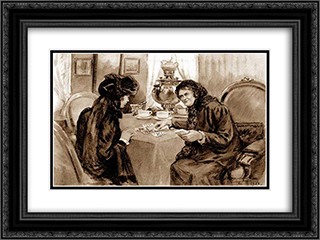 Cartomancy 24x18 Black or Gold Ornate Framed and Double Matted Art Print by Ivan Vladimirov