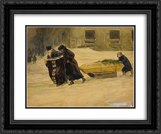 In the last journey 24x20 Black or Gold Ornate Framed and Double Matted Art Print by Ivan Vladimirov