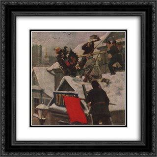 Removal of the royal coats of arms (An eagle Down!) 20x20 Black or Gold Ornate Framed and Double Matted Art Print by Ivan Vladimirov