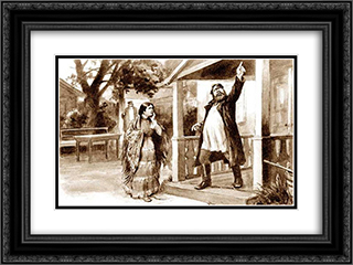 The drunkard 24x18 Black or Gold Ornate Framed and Double Matted Art Print by Ivan Vladimirov