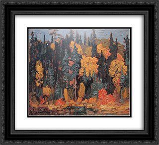 Algoma 22x20 Black or Gold Ornate Framed and Double Matted Art Print by J. E. H. MacDonald
