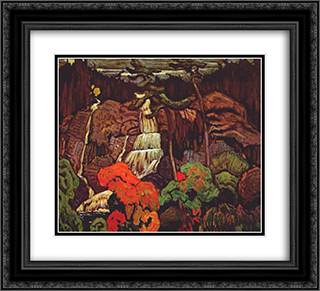 Algoma Waterfall 22x20 Black or Gold Ornate Framed and Double Matted Art Print by J. E. H. MacDonald