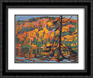 Autumn Algoma 24x20 Black or Gold Ornate Framed and Double Matted Art Print by J. E. H. MacDonald