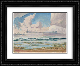Barbados, B.W.I., Winter 24x20 Black or Gold Ornate Framed and Double Matted Art Print by J. E. H. MacDonald