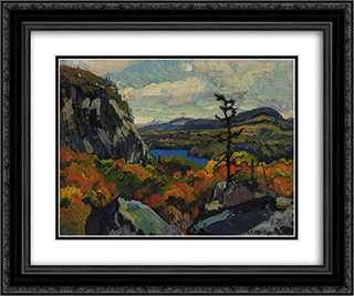 Early Autumn, Montreal River, Algoma 24x20 Black or Gold Ornate Framed and Double Matted Art Print by J. E. H. MacDonald