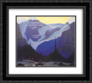 Early Morning, Rocky Mountains 22x20 Black or Gold Ornate Framed and Double Matted Art Print by J. E. H. MacDonald