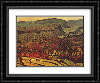 Forest Wilderness 24x20 Black or Gold Ornate Framed and Double Matted Art Print by J. E. H. MacDonald