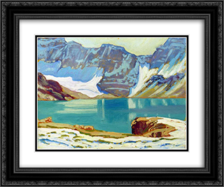 Lake McArthur, Yoho Park 24x20 Black or Gold Ornate Framed and Double Matted Art Print by J. E. H. MacDonald