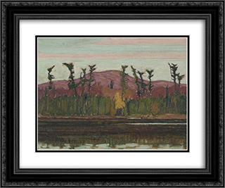 Layton's Lake, Algoma 24x20 Black or Gold Ornate Framed and Double Matted Art Print by J. E. H. MacDonald