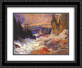 Montreal River 24x20 Black or Gold Ornate Framed and Double Matted Art Print by J. E. H. MacDonald
