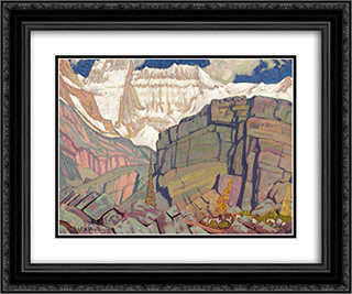 Mount Lefroy 24x20 Black or Gold Ornate Framed and Double Matted Art Print by J. E. H. MacDonald
