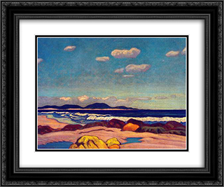 Seashore, Nova Scotia 24x20 Black or Gold Ornate Framed and Double Matted Art Print by J. E. H. MacDonald