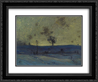 Snowfields, Evening 24x20 Black or Gold Ornate Framed and Double Matted Art Print by J. E. H. MacDonald