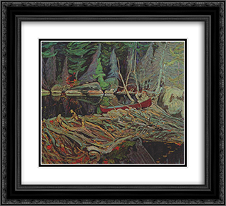 The Beaver Dam 22x20 Black or Gold Ornate Framed and Double Matted Art Print by J. E. H. MacDonald