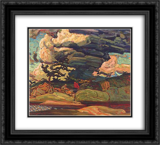 The Elements 22x20 Black or Gold Ornate Framed and Double Matted Art Print by J. E. H. MacDonald