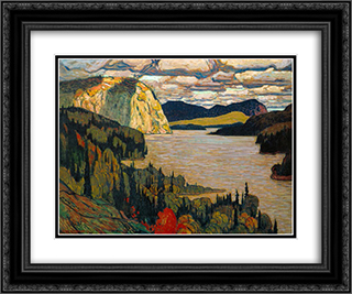The Solemn Land 24x20 Black or Gold Ornate Framed and Double Matted Art Print by J. E. H. MacDonald