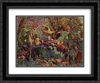 The Tangled Garden 24x20 Black or Gold Ornate Framed and Double Matted Art Print by J. E. H. MacDonald