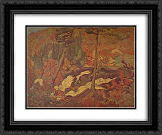 The Wild River 24x20 Black or Gold Ornate Framed and Double Matted Art Print by J. E. H. MacDonald