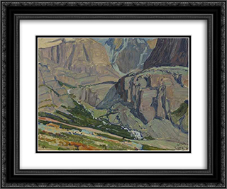 Valley and Stream, Oesa Trail, Lake O'Hara 24x20 Black or Gold Ornate Framed and Double Matted Art Print by J. E. H. MacDonald