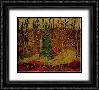Young Canada 22x20 Black or Gold Ornate Framed and Double Matted Art Print by J. E. H. MacDonald