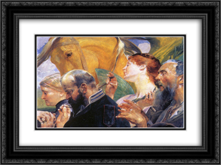 Art 24x18 Black or Gold Ornate Framed and Double Matted Art Print by Jacek Malczewski