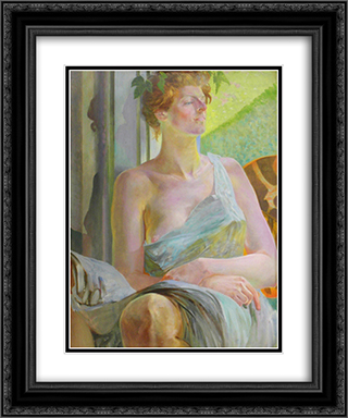 Bacchante (Portrait of Maria Bal) 20x24 Black or Gold Ornate Framed and Double Matted Art Print by Jacek Malczewski