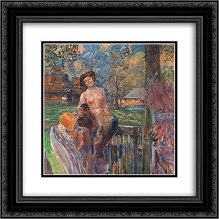 Chimera 20x20 Black or Gold Ornate Framed and Double Matted Art Print by Jacek Malczewski