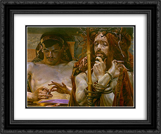 Christ before Pilate 24x20 Black or Gold Ornate Framed and Double Matted Art Print by Jacek Malczewski