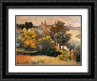 Corpus Christi 24x20 Black or Gold Ornate Framed and Double Matted Art Print by Jacek Malczewski