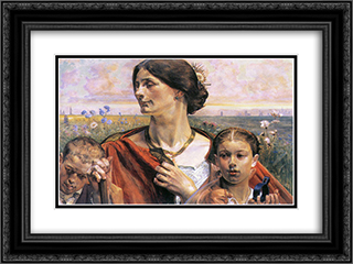 Country 24x18 Black or Gold Ornate Framed and Double Matted Art Print by Jacek Malczewski