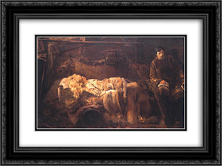 Death of Ellenai 24x18 Black or Gold Ornate Framed and Double Matted Art Print by Jacek Malczewski