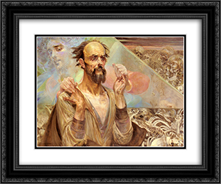 Destiny 24x20 Black or Gold Ornate Framed and Double Matted Art Print by Jacek Malczewski